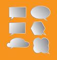 bubble icon set vector image