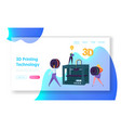 3d printing technology concept website template vector image
