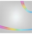 Abstract Moving Colorful Lines on white Background vector image