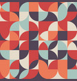 abstract retro vintage geometric shape pattern vector image vector image