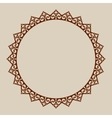 Abstract round frame with swirls vector image