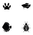 animals icon set vector image vector image