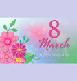 banner for international womens day vector image vector image