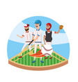 baseball player competition and teamwork in the vector image vector image