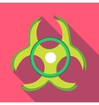 Biohazard symbol icon in flat style vector image vector image