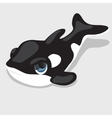 Black-and-white orca with blue eyes vector image vector image