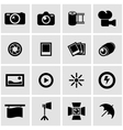 black photo icon set vector image vector image