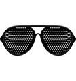 black pinhole glasses vector image