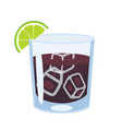 black russian cocktail isolate on a white vector image