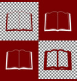 book sign bordo and white icons and line vector image vector image