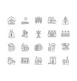 brewery line icons signs set outline vector image vector image