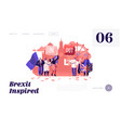 brexit and anti brexit supporters demonstration vector image
