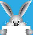 Bunny with blank sheet vector image vector image