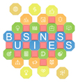 Business Puzzles vector image vector image