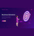 business solution target achievement isometric vector image