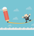 businessmen who express their anxieties vector image vector image