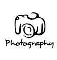 Camera and photography emblem vector image vector image