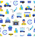 car wash flat icons pattern or background vector image vector image
