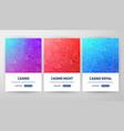 casino flyer concepts vector image vector image