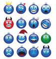 Christmas decorations-emotions vector image