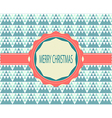 Christmas Greeting Card Retro Color vector image vector image
