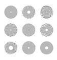 circle design elements vector image