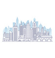 city landscape line panorama template with flat vector image vector image