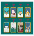 collection of christmas tags for presents vector image vector image