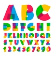 Colorful kids alphabet and numbers vector image vector image