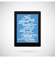 Conceptual tablet vector image vector image