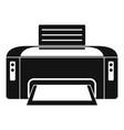 copier printer icon simple style vector image