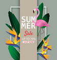 Creative summer sale background with tropical