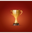 Cup of the winner on a red back vector image vector image