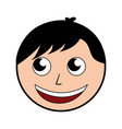 cute man face cartoon vector image vector image