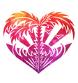 Decorative heart with abstract texture vector image