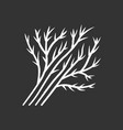 dill leaves chalk icon vector image vector image