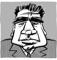 dour man in suit vector image vector image