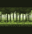 fairy forest bright forest woods silhouttes vector image