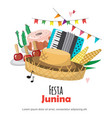 festa junina - brazil june festival folklore vector image vector image