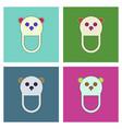 flat icon design collection teddy bear bib vector image vector image
