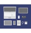 Flat workspace vector image