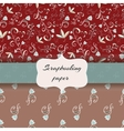 floral scrap booking paper vector image