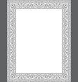 floral template for frame vector image