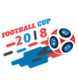 football cup 2018 flying socer ball white backgrou vector image vector image