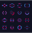 futuristic sights on black vector image