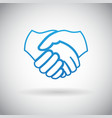 Handshake Cooperation Partnership Icon Symbol Sign vector image vector image