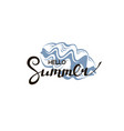 hello summer lettering with seashell vector image vector image