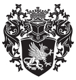 heraldic silhouette no17 vector image vector image