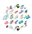 hi tech icons set isometric style vector image vector image