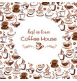 hot coffee steam cups poster for cafe vector image